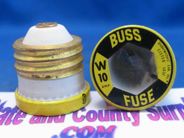 2 10 Amp Screw In Buss Type W Ceramic Fuse W 10