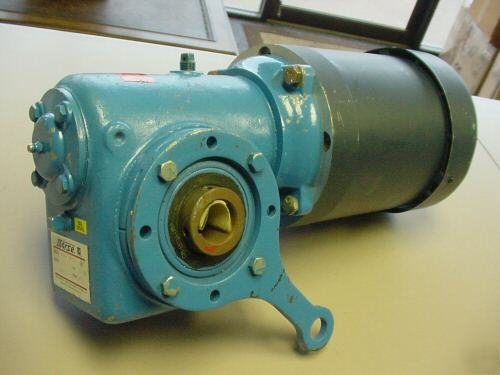 Leeson 1hp Motor With Morse Gear Speed Reduction Motor