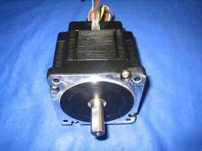 3 pcs nema34 dual shaft stepper motor 400 oz in for Double shaft stepper motor
