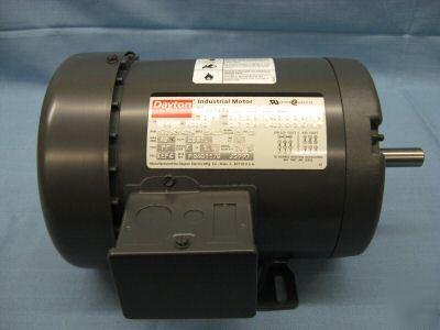 Dayton 3 phase ac motor 3 4 hp 2n866 for 1 4 hp 3 phase motor