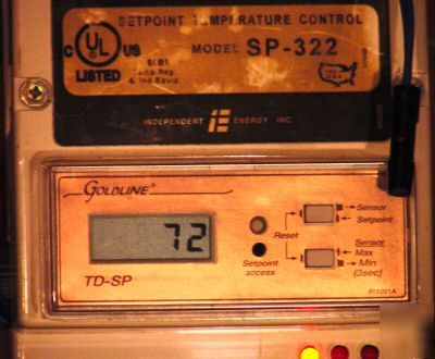 Goldline sp-322 two stage temperature control / tempdsp