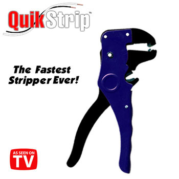 Quick strip self adjusting wire stripper- as seen on tv
