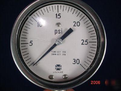 "Ametek / u.s. gauge 540L 0/30 psi 1/4"" 151472"