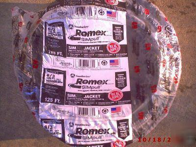 125 6 3 Romex Nmb Thwn Copper Electric Wire Hot Tub