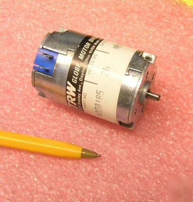 New Trw Globe Dc Motor 24v 5500 Rpm 15oz In 3a